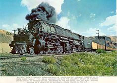 The Union Pacific Challenger, also known as 'Big Boy' had a 4-8-8-4 wheel configuration and could haul tremendous loads over the Rocky Mountains and even the Alleghenies. - Google Search