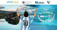 Viví el clásico Argentina vs Uruguay con Volemos