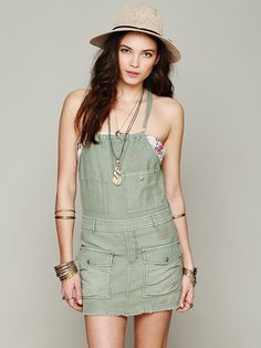Free People Military Utility Dress at Free People Clothing Boutique $118.00