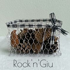 Rock'n'Giu: DIY - Cestino in rete metallica wire handmade basket