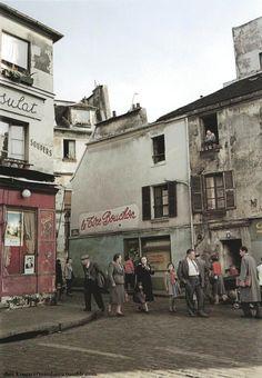 Ihei Kimura - Montmartre (rue Norvins x rue des Saules) - Paris 1954-1955. 2014 google map: https://www.google.ca/maps/@48.8870847,2.339714,3a,75y,169.09h,91.12t/data=!3m5!1e1!3m3!1skTKqhfyHY-SvkFXqfsnDNg!2e0!3e5