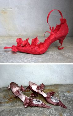 ZsaZsa Bellagio – Violise Lunn Like No Other: Paper Fashion Paper Shoes, Paper Clothes, Paper Dresses, Diy Paper, Paper Art, Paper Crafts, Magic Shoes, Manequin, Fairy Shoes