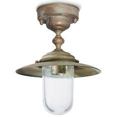 Tuscanor - Brass Porch Flush Light - TUS162F
