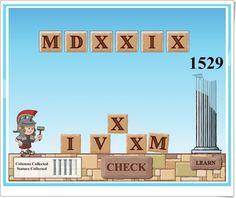 """""""Roman numerals"""" de abcya.com"""