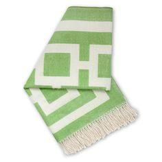 Jonathan Adler Green Nixon Throw Blanket