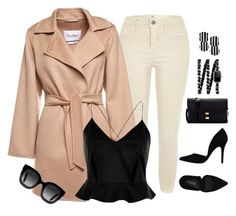 """""""Cashmere Coat"""" by sarelle-20 ❤ liked on Polyvore featuring River Island, MaxMara, PrimaDonna, Lele Sadoughi, Chanel and Gucci"""