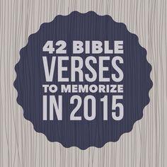 42 Bible Verses to Memorize in 2015