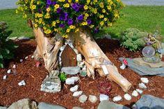 Tree Stump Fairy Garden 6