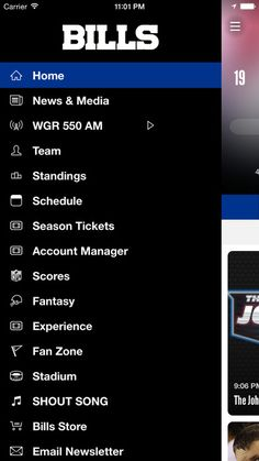 This is the official mobile app of the Buffalo Bills.