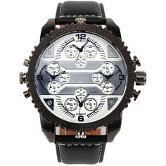 2016 Fashion New Army Military Tag Sport Oulm Double Time Show Quartz Wrist Watch Male Clock Gift Brand Reloj Relogio Masculino Mens Watches Leather, Leather Men, Men's Accessories, Sport Watches, Watches For Men, Men's Watches, Wrist Watches, Watches Online, Military Tags