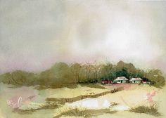 Australian Homestead Watercolour