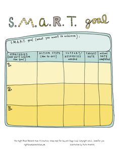 Smart Goals  Use As A Prompt For New YearS Goals Writing  Work