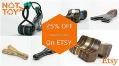 25% discount on our Etsy shop.  Get your favorite NOTATOY slingshot with a 25% discount.