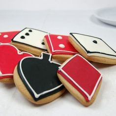 Poker night cookies - these are awesome