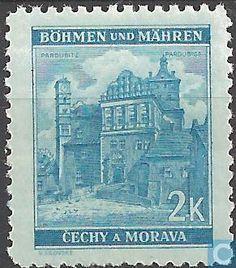 Timbres-poste - Bohême et Moravie - Bâtiments Cover, Art, Castles, Stamps, World, Craft Art, Slipcovers, Kunst, Gcse Art