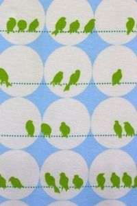 Image of Blomma birds organic cotton jersey (by the half metre) Textile Patterns, Print Patterns, Fabric Stamping, Contemporary Fabric, Color Shapes, Cool Fabric, Pattern Illustration, Painting Patterns, Learn To Sew