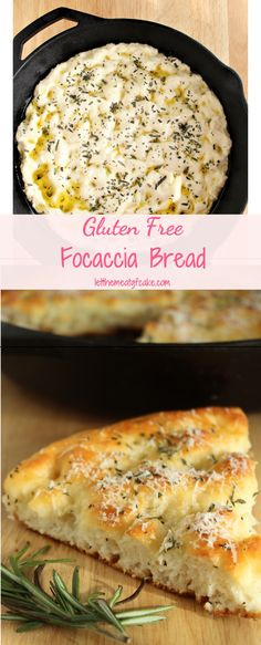 gluten free recipes Its so easy to make this wonderful gluten free focaccia bread! Its light and airy with a crunchy top and bottom crust. Focaccia is flavored with olive oil, rosemary, sea salt, and a light sprinkling of parmesan cheese. Cookies Gluten Free, Gluten Free Desserts, Gluten Free Dinners, Gluten Free Breads, Gluten Free Party Food, Gluten Free Crust, Gluten Free Appetizers, Gluten Free Muffins, Pan Focaccia