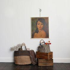hand woven fair trade jute tote bag