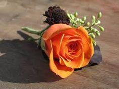 Image result for orange boutonnieres