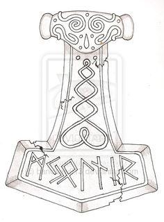 Mjollnir - Thor's Hammer by bandsaw013.deviantart.com on @deviantART