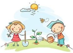 Illustration about Happy cartoon kids spring activities. Illustration of environment, plant, gardening - 44759982 Happy Cartoon, Cartoon Kids, Painting For Kids, Art For Kids, Stick Figure Drawing, Drawing Lessons For Kids, School Murals, Cute Clipart, Spring Activities