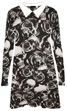 goth pattern swing dress| size 12 - 26  pastel goth nu goth punk goth plus size fashion grid fachin skull floral houndstooth collared dress top plus ebay wish