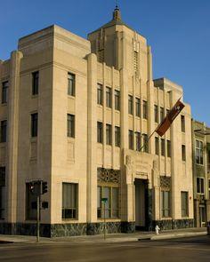 Former Santa Ana City Hall, Santa Ana California. The beautiful art deco building was built in 1933.