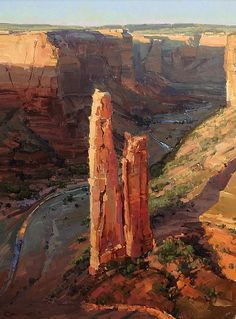 Spider Rock (Canyon De Chelly) by Kathryn Stats - Greenhouse Gallery of Fine Art