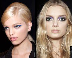 Eye make-up rich hues and bold lines