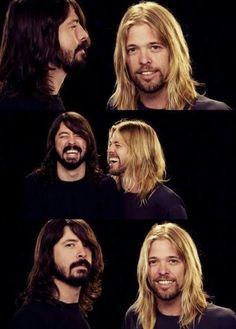 Dave Grohl and Taylor Hawkins - I can't speak for other members of Foo Fighters, but these guys love Queen as much as anybody. Music Love, Music Is Life, Rock Music, Music Pics, Foo Fighters Dave Grohl, Foo Fighters Nirvana, Freddie Mercury, Great Bands, Cool Bands