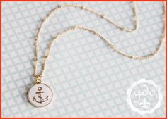 IN STOCK Set Sail mini anchor necklace ivory GDO by girlsdayout, $26.00
