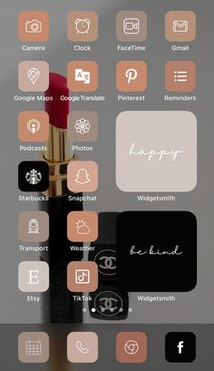 Want a home screen that looks like this? Check out SOSO Branding on Etsy (etsy.com/shop/sosobranding) for app covers to customize your home screen and make it aesthetically pleasing!   iPhone home screen ideas | Home screen inspo | Aesthetic home screen inspiration | Widgetsmith Shortcuts app | Aesthetic home screen inspo | iOS 14 widget photos | iOS 14 app covers | iOS 14 app icons Iphone Wallpaper App, Iphone App, Tinder Tips, Microsoft Visio, Shortcut Icon, Any App, App Covers, Open App, Brown Aesthetic