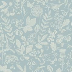 A fun natural wallpaper design in a blue colour scheme from Arthouse's Imagine Wallpaper Collection. Available at Go Wallpaper UK. Paper Wallpaper, Wallpaper Decor, Animal Wallpaper, Wallpaper Ideas, Edwardian House, Living Room Decor Cozy, Country Blue, Blue Color Schemes, High Quality Wallpapers