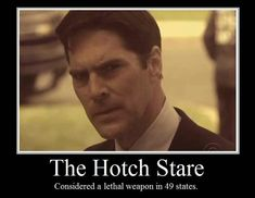 Criminal Minds, the Hotch Stare... imagine both Hotch and Gibbs doing their stares?!