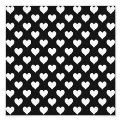Shop Black and White Heart Pattern Photo Print created by annaleeblysse. Personalise it with photos & text or purchase as is! Heart Patterns, White Patterns, Print Patterns, Valentine Gifts For Kids, Black And White Heart, Statement Wall, Heart Wallpaper, Modern Artwork, Custom Posters