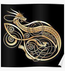 Bildresultat för dragon viking knotwork