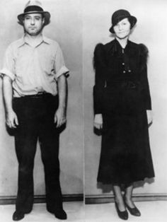 """anniversary: The most infamous inmates from America's most mysterious prison George """"Machine Gun"""" Kelly and his wife, Kathryn Kelly, in 1933 (AP/PA)George """"Machine Gun"""" Kelly and his wife, Kathryn Kelly, in 1933 (AP/PA) Real Gangster, Mafia Gangster, Gangster Style, Machine Gun Kelly, G Man, Serial Killers, Mug Shots, Historical Photos, Bad Boys"""