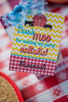 Girly Rodeo 2nd Birthday Party Thank you party tag Photographer – Jenny Loya of Jenner Rose Photoghraphy