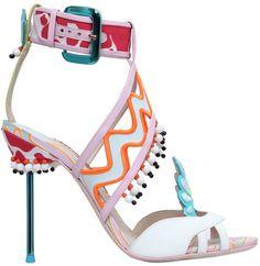 110mm Nereida Cotton & Leather Sandals. #SophiaWebster