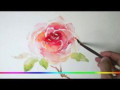 Рисуем акварелью: Сирень — kalachevaschool.ru - YouTube