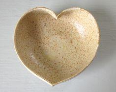 Pottery heart dish....