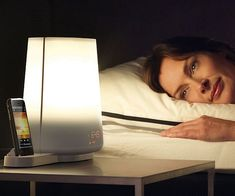 Ditch those annoying buzzing, vibrating, and ringing alarm clocks. You can now wake up naturally with this gradually increasing Wake Up Light alarm clock that also serves as an iPod dock to play your favorite music as you slowly wake up.