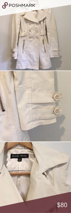 Blanc Noir Cream Button Up Collared Trench Coat Blanc Noir Cream Button Up Collared Trench Coat  * Fits true to size  * In preloved condition with minimal signs of wear.  * Open to offers, sorry no trades blanc noir Jackets & Coats Trench Coats