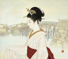 日本 画 美人 画