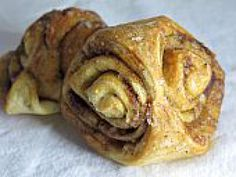 Finnish Cinnamon Pastries (Korvapuusti): For pastries: 1 cup lukewarm milk 4 Tbsp. melted butter (room temperature) 1 pkg. dry yeast (2 1/4 tsp) 1/2 cup sugar 1 tsp. salt 1 Tbsp. freshly ground cardamom 1 beaten egg plus 1 beaten egg for final glaze 4-5 cups all-purpose flour Pearl sugar or rock sugar for dusting . For filling: 1/4 cup melted butter 3/4 cup packed brown sugar 2 heaping Tbsp. cinnamon