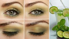 Mojito Inspired Make-up  http://deea-makeup.blogspot.ro/2011/10/mojito-inspired-make-up.html