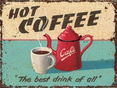 12 Vintage Coffee Signs - All Gifts Considered