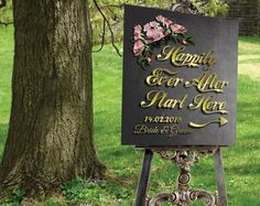 PRINTABLE Wedding Sign, Wedding Welcome sign Personalized Large Wedding Sign, Chalkboard Engagement Party Sign by DigitalPrintStore on Etsy Engagement Party Signs, Engagement Gifts, Wedding Welcome Signs, Wedding Signs, Religious Wedding, Retro Art, Bride Gifts, Handmade Shop, Personalized Wedding