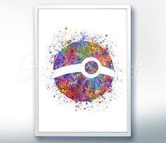 Pokemon Wall Decor pokemon go, bulbasaur print, pokemon watercolor art, pokemon