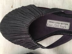 9/39 dries van Noten cuir Mules ballerines chaussures /